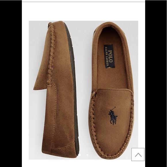 076e614f Ralph Lauren Polo Dezi II tan slipper Mocs NWT
